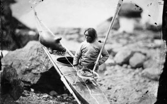 kayak made by Inuit tribe member
